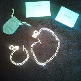 "Tiffany ""Return to Tiffany"" Heart Tag Toggle Necklace and Bracelet"