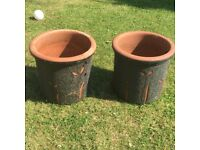 Garden plant pots