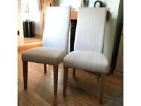Next cream/beige fabric dining chairs (2)