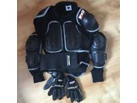 WULF sport motocross jacket and gloves