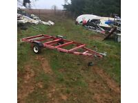 8x4 trailer chassis with recent hubs, wheels , hitch and jockey wheel