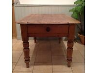 Vintage pine kitchen table with drawer. Lovely condition