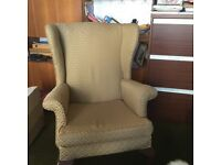 2 Parker knoll wing back chairs