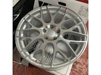 "Calibre CCM Alloy Wheel Single Spare 8.5x19"" 5x112 Silver Machined VW Audi"