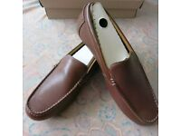 Clarks Marcos Flow Mens Brown Leather Shoes UK 8.5