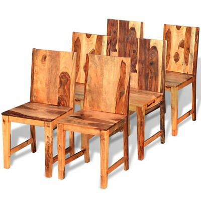 vidaXL 2/4/6x Solid Sheesham Wood Dining Chairs Rustic Home Kitchen Seating
