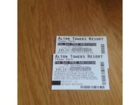 Alton towers tickets x2 10th July