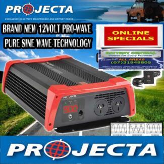 350W, 600W, 900W, 1800W. Pure Sine Wave. Projecta Inverter