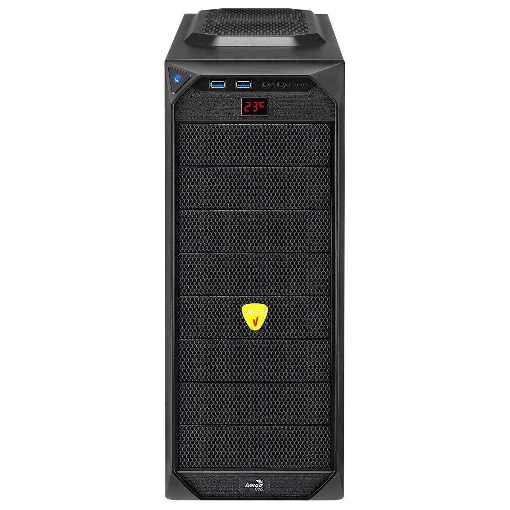 Aerocool VS-92 Black ATX Gaming Case USB3 Black