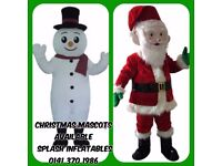 Santa and Snow Man Mascots for hire! Appearances available