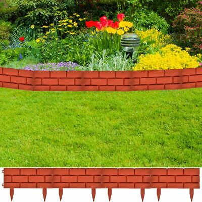vidaXL 11x Garden Fence Boarder 16.4 ft Fencing Edging Picket Lawn Panel -