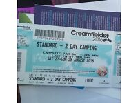 x1 2 day camping Creamfields ticket!