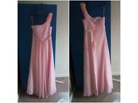 Baby pink evening dresses