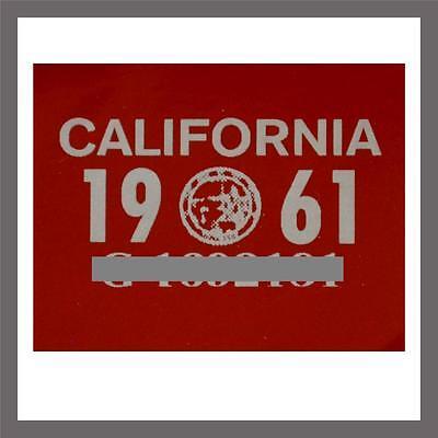 1961 California Yom Dmv Car Truck Trailer License Plate Sticker   Tag Ca 1956 61