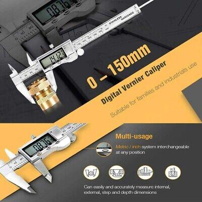 0-150mm0-6 Lcd Digital Caliper Vernier Micrometer Electronic Ruler Gauge Meter