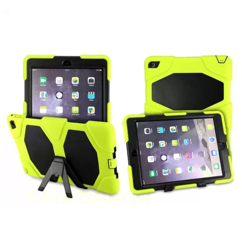 Shockproof Rubber Case Cover +Screen Protector For iPad 234 Mini Air 1 2 Pro 9.7