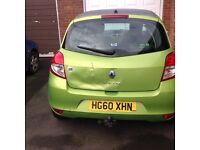 2011 I music Clio 1.2 long mot damage on boot lid as seen in photos