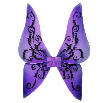 Kinder lila Glitzer Schmetterling Flügel Halloween Fee Kostüm - Lila Schmetterling Kostüm Flügel