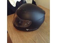 XL MATT BLACK FRANK THOMAS MOTORBIKE HELMET