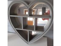 LOVELY GREY LOVE HEART MIRROR