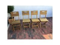 B&Q 4 Folding garden chairs like new
