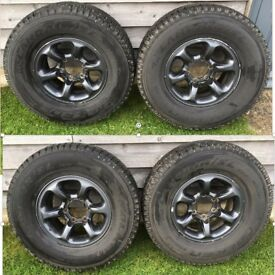 Four Winter Tyres & Alloy Rims for Mitsubishi Shogun Mk1&2 - 9mm of tread on all four tyres