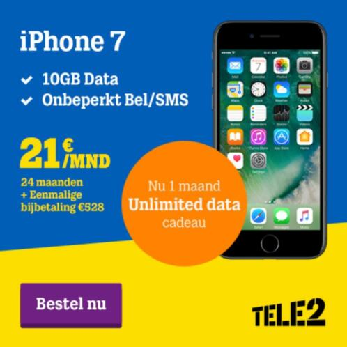 iPhone 7 32GB Topdeal! Inclusief abonnement