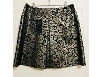M&S bronze Jacquard skirt, BRAND NEW WITH TAGS, two sizes