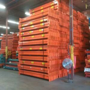 Used Redirack beams 9 long x 4.5 inches thick - Rated for 5000 lbs per pair - warehouse pallet racking