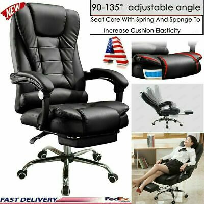 Office Chair Leather Desk Gaming Chair Massage Function Adjustable Seat Height
