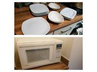 Beautiful High Quality Designer Plates and Bowls Plus FREE Microwave