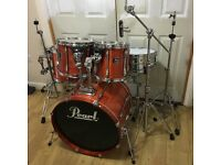 Fully Refurbished Pearl Export Drum Kit (Amber Lacquer) // Free Local Delivery