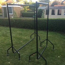 Strong clothing rails x2 5ftx5ft and 3ftx5ft