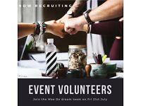 Event Volunteers Needed