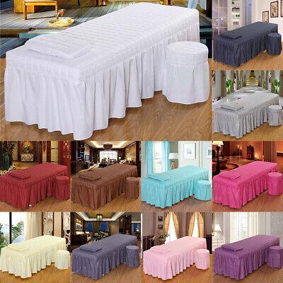 Beauty Massageliegenbezug Massageliegenbezug Set mit Tischrock Kissenbezug