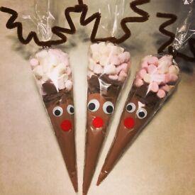 Rudolph Hot Chocolate Cones
