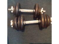 Dumbbells - 17kgs