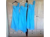 3 gorgeous perfect cond bridesmaid dresses
