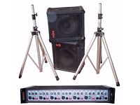 HH Amplifier & Speakers Plus Stands 100 Watt Ideal For Bands, Public Venues & Bars, Nightclubs