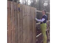 Fencing, Artificial grass, Slabbing, Decking