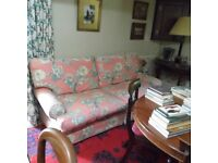 Three 3 sofas, one two seater and two three seaters, linen, floral, conservatory, sitting room