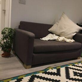 Grey Two-Seater Sofa, Loveseat, Small Sofa