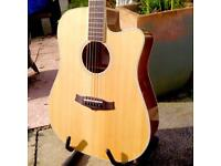 Tanglewood TW28Z CE electro acoustic dreadnought cutaway. 'Mint' condition