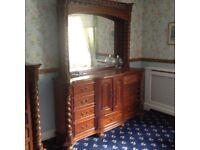 Large chest / dressing table with mirror.