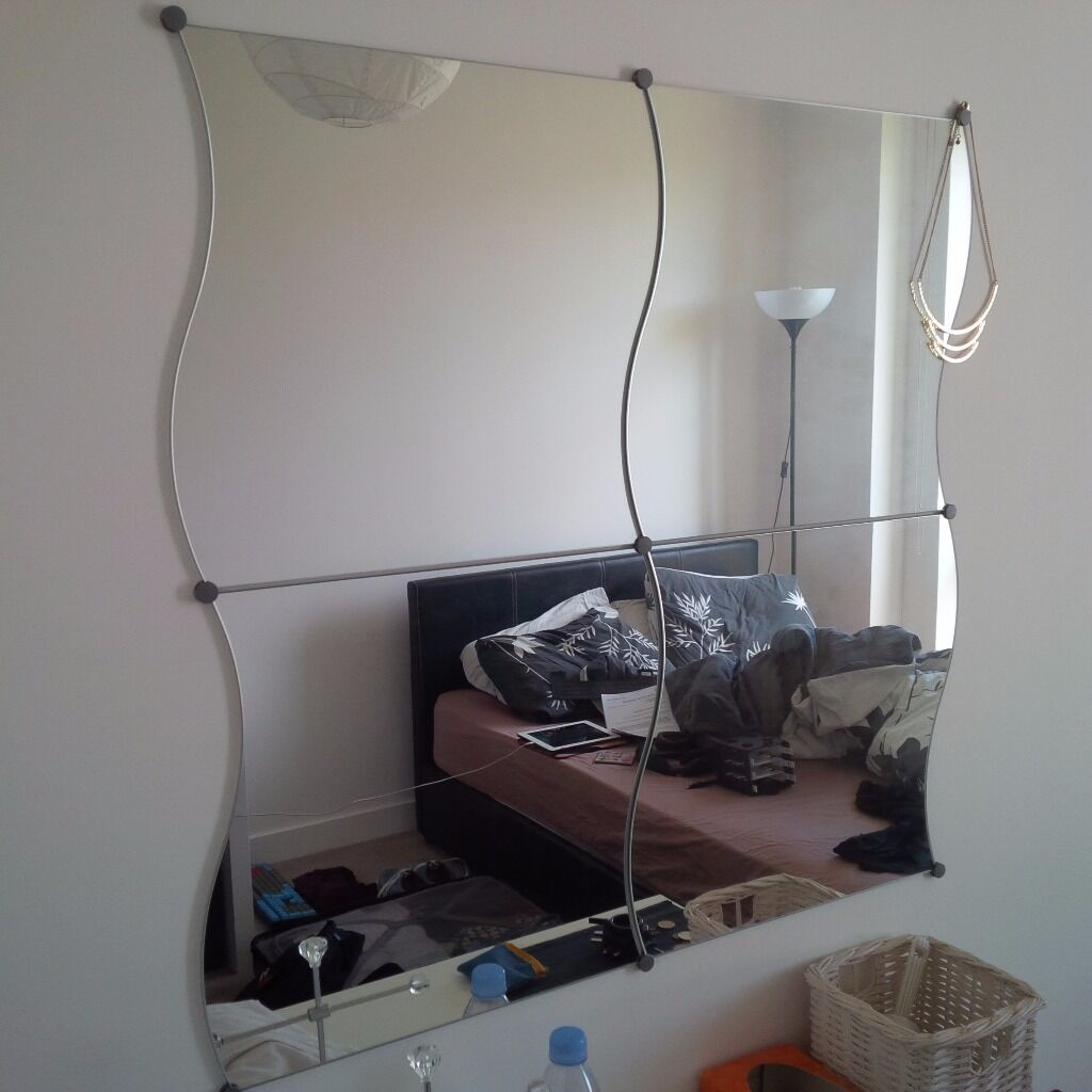 Ikea krabb mirrors 4 pack in london gumtree for 4 miroirs vague ikea