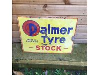 Palmers tyres enamel sign