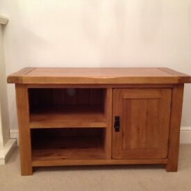 Oak furniture tv unit excellent condition