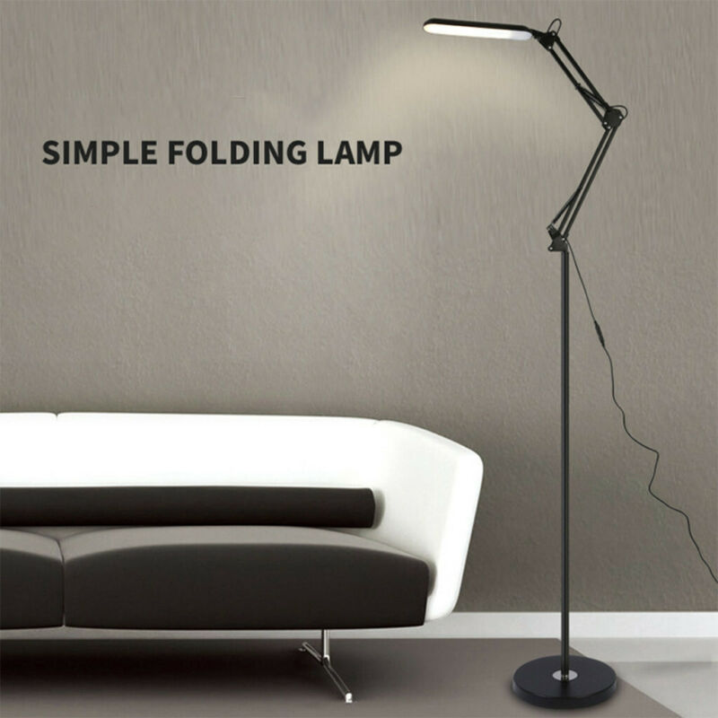 LED Floor Lamp Reading Light Metal Dimmable Remote Control F