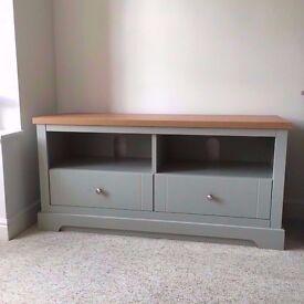 ex-display Heart of House Westbury 2 Drawer TV Unit - Soft Green