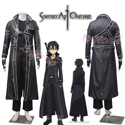Cafiona Black Man Outfits Sword Art Online Kirito Kazuto Kirigay Cosplay Costume